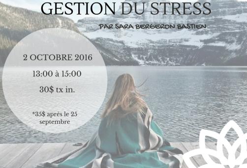 Atelier Gestion du Stress par le Yoga Thérapeutique