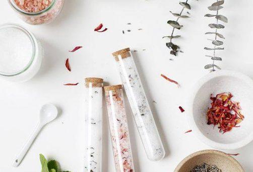 Atelier DIY son sel de bain + masque pour le visage